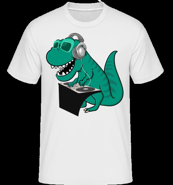 T-Rex DJ - T-Shirt Shirtinator homme - Blanc - Devant