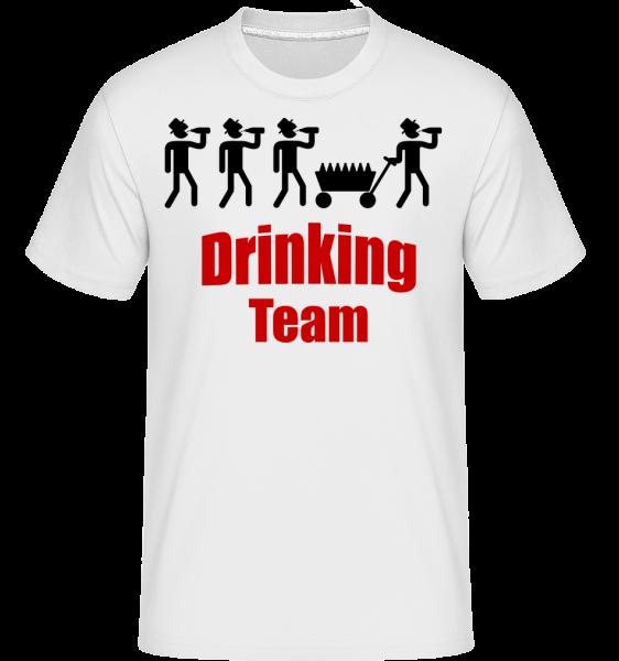 Drinking Team -  T-Shirt Shirtinator homme - Blanc - Devant