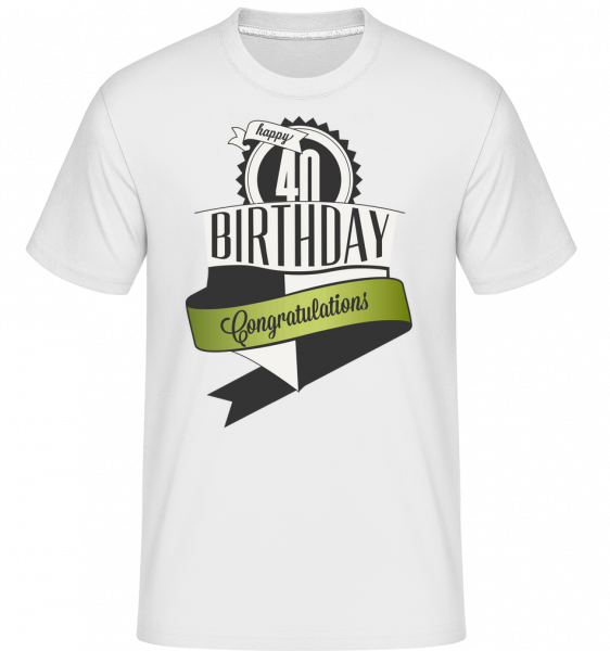 40 Birthday Congrats - T-Shirt Shirtinator homme - Blanc - Devant