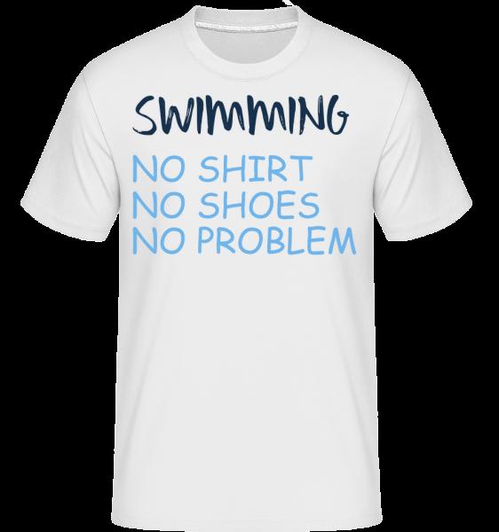 Swimming No Problems - T-Shirt Shirtinator homme - Blanc - Devant