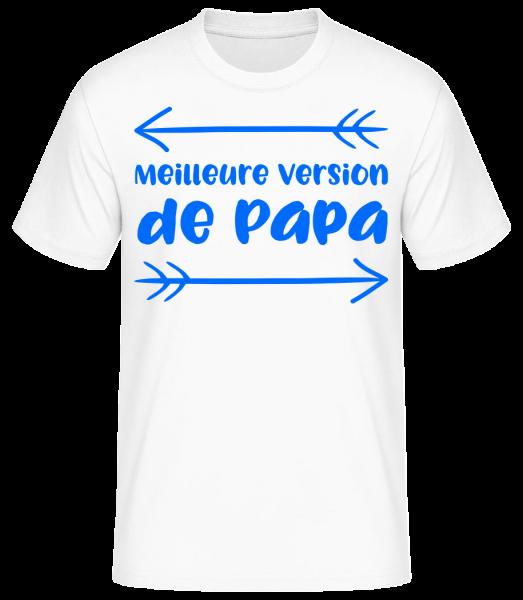 Meilleure Version De Papa - T-shirt standard homme - Blanc - Devant