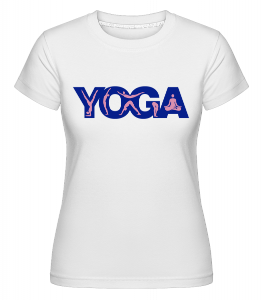 Yoga Sign Blue -  T-shirt Shirtinator femme - Blanc - Devant