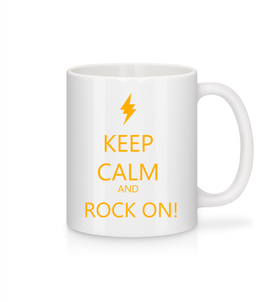 Keep Calm And Rock On! - Mug en céramique blanc - Blanc - Devant