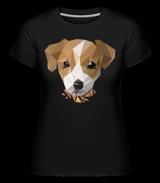 Polygon Chien - T-shirt Shirtinator femme - Noir - Devant