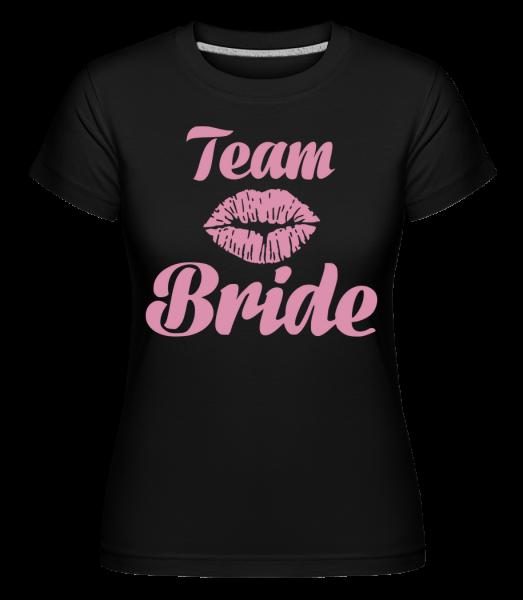 Team Bride Kiss -  T-shirt Shirtinator femme - Noir - Devant