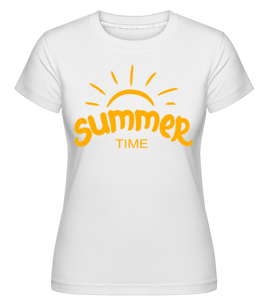 Summer Time Yellow -  T-shirt Shirtinator femme - Blanc - Devant