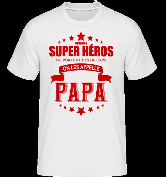 Super Héros Sans Cape -  T-Shirt Shirtinator homme - Blanc - Devant