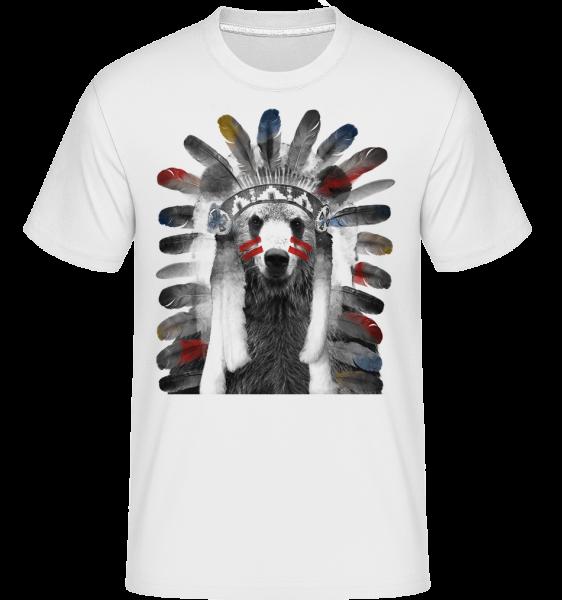 Ours Indien - T-Shirt Shirtinator homme - Blanc - Devant
