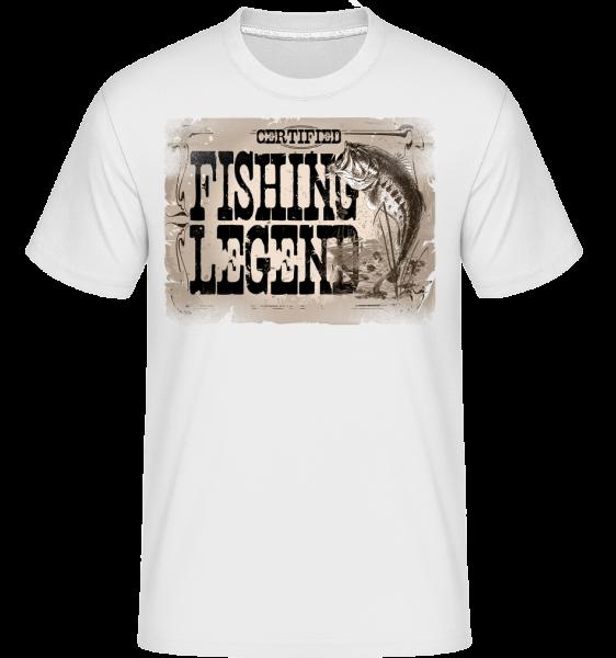 Fishing Legend -  T-Shirt Shirtinator homme - Blanc - Devant