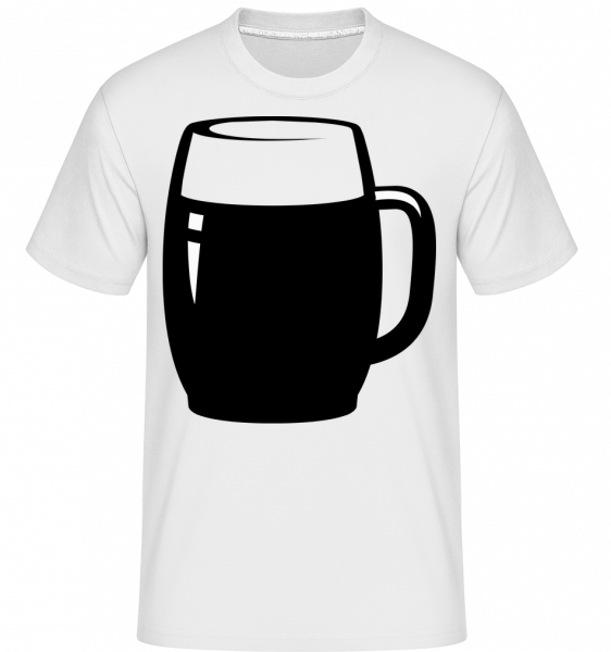 Beer Glass Black/White - T-Shirt Shirtinator homme - Blanc - Devant