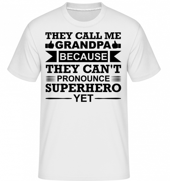 Grandpa Superhero - T-Shirt Shirtinator homme - Blanc - Devant