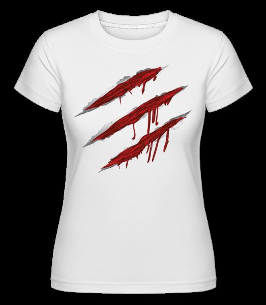 Égratignures Sanglantes - T-shirt Shirtinator femme - Blanc - Devant