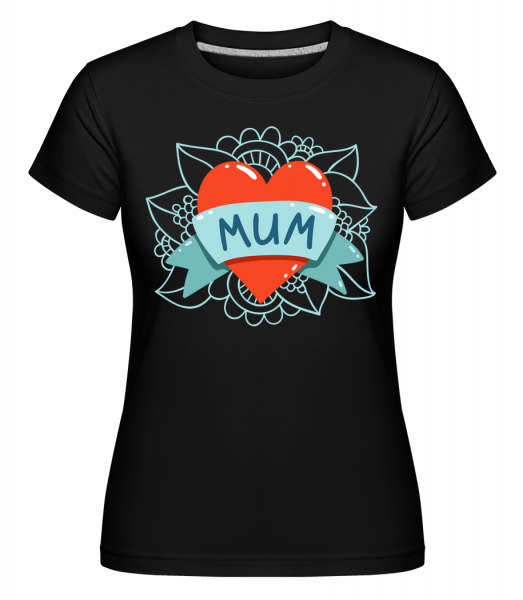 Mum Heart Icon -  T-shirt Shirtinator femme - Noir - Devant